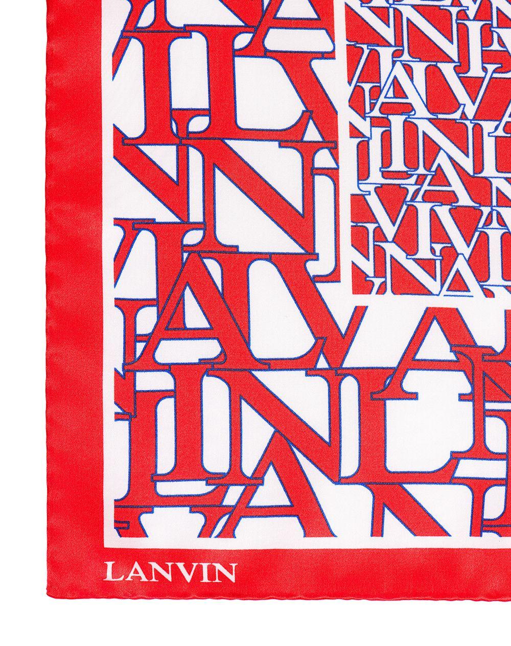 lanvin square lanvin logo scarf scarf women lanvin