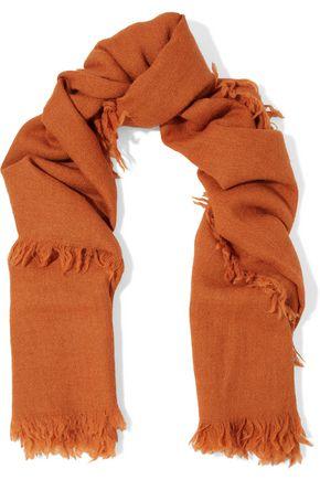 RICK OWENS Frayed alpaca scarf