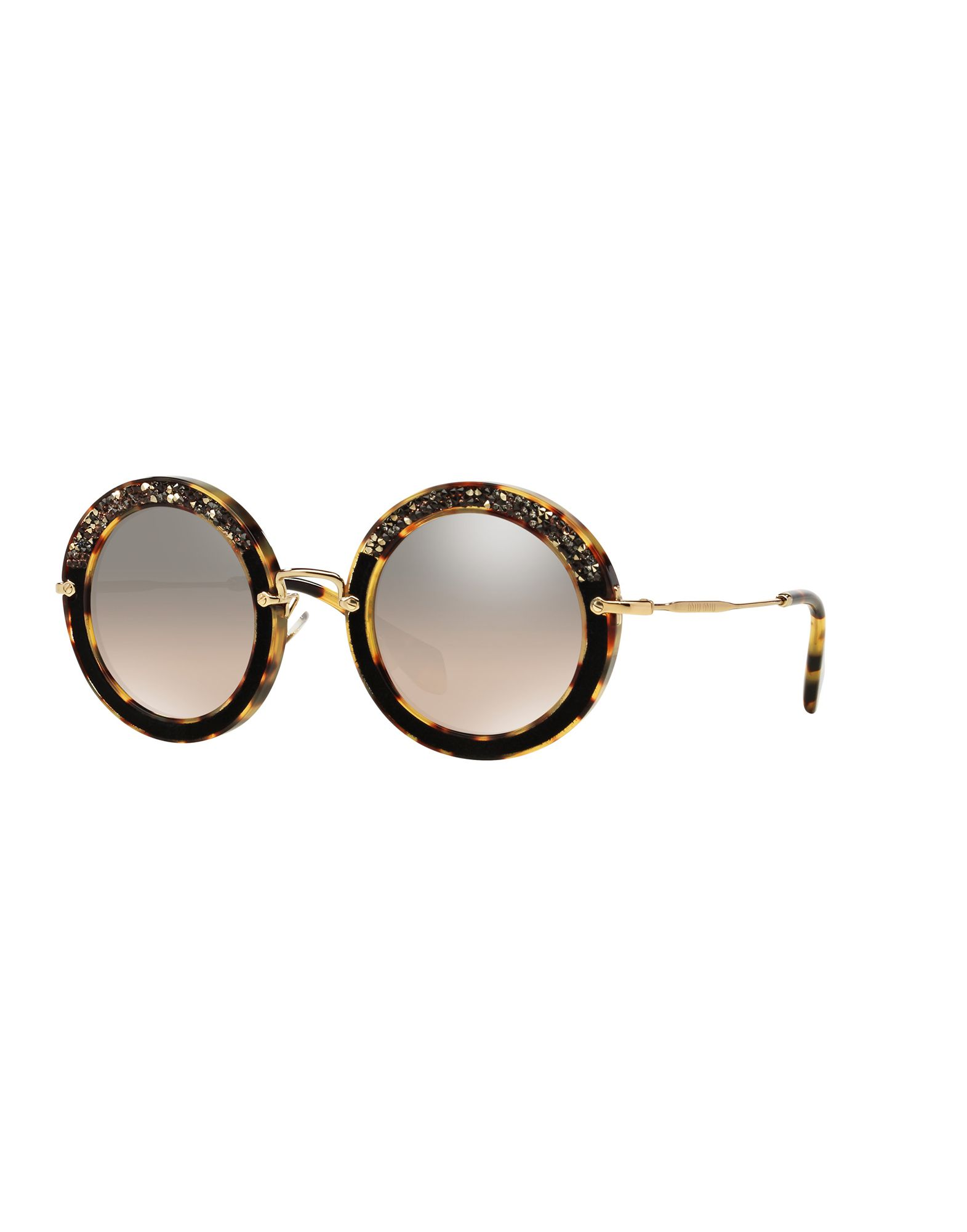 MIU MIU Солнечные очки бусы из янтаря солнечные ежики