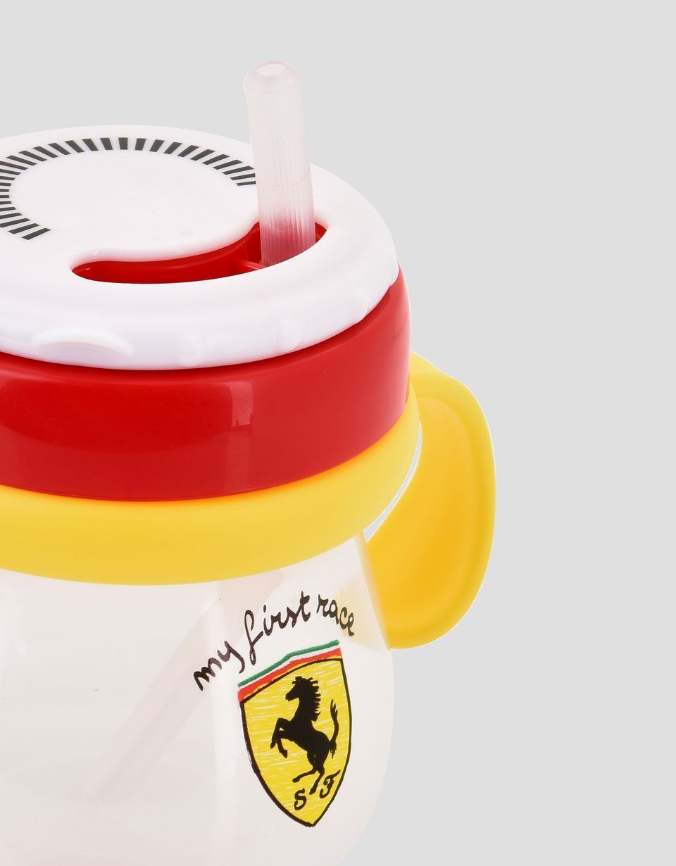 Scuderia Ferrari Online Store - Kids training cup with 'My first race' straw - Soothers & Accessories
