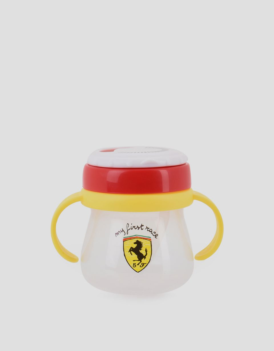 Scuderia Ferrari Online Store - 'My first race' beaker with straw - Soothers & Accessories
