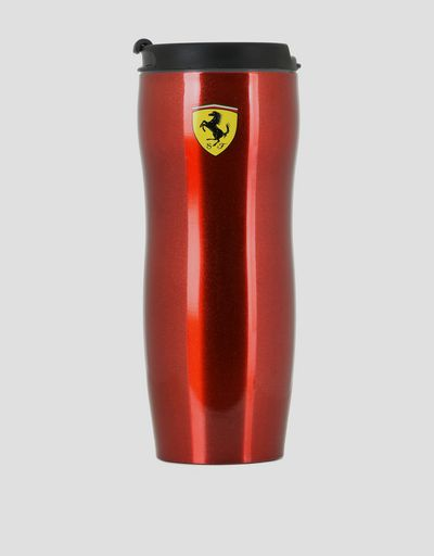 11.8 oz insulated travel mug in double-wall steel with Ferrari Shield