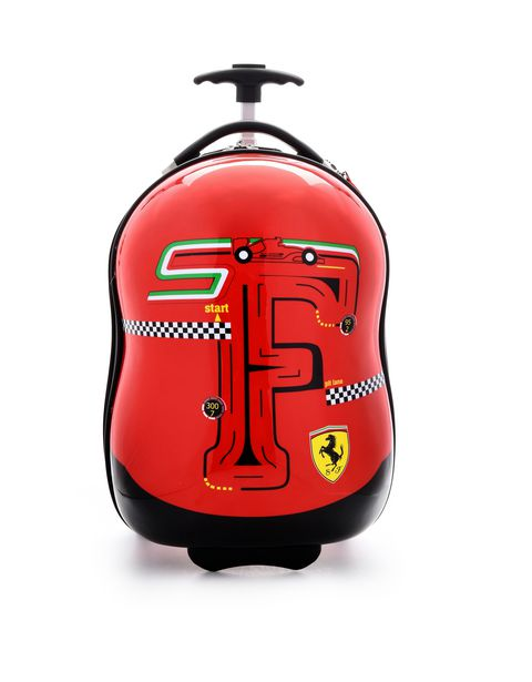 F-Racing hard-shell trolley suitcase for children