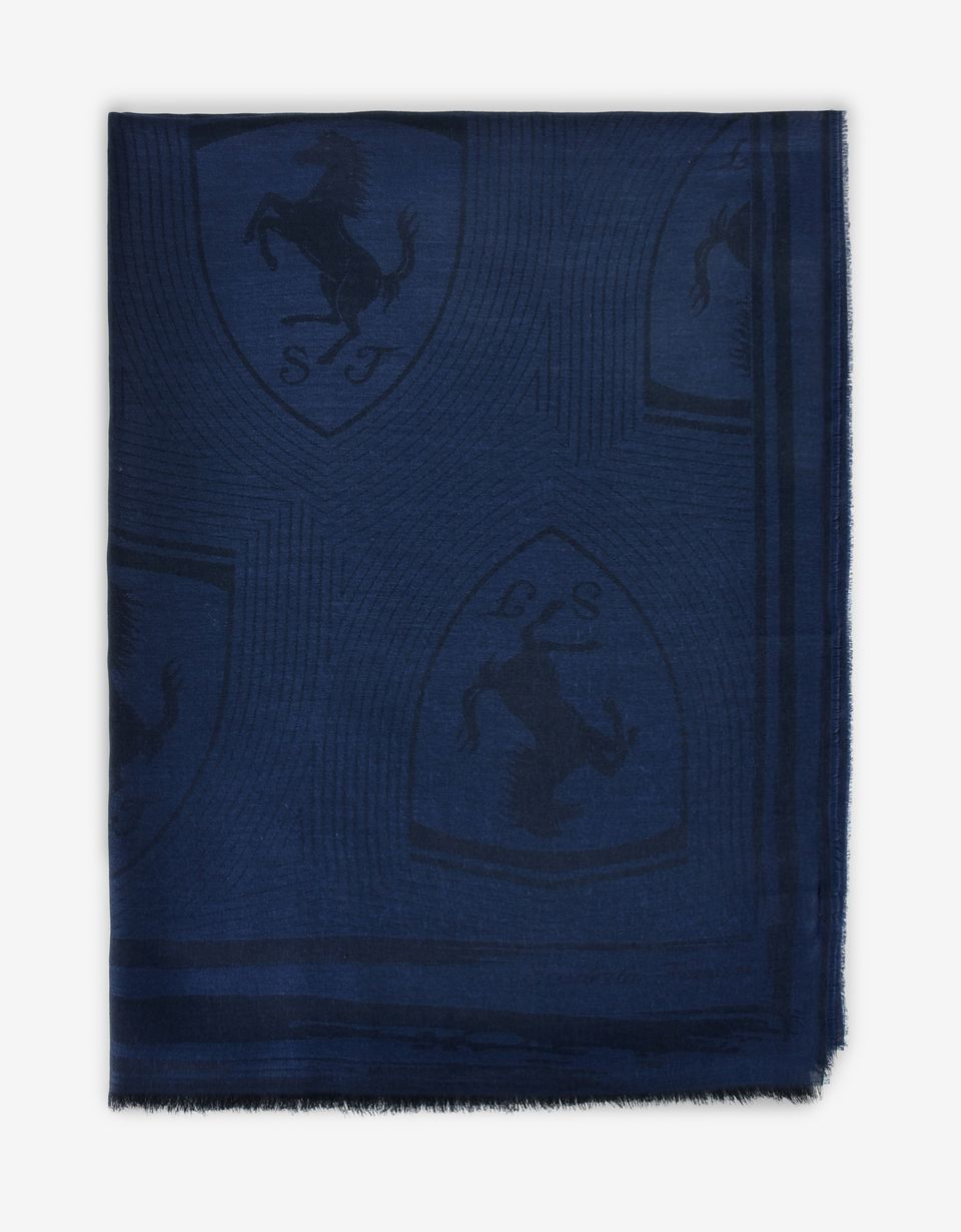 Scuderia Ferrari Online Store - Rectangular Scarf with Ferrari Shield -