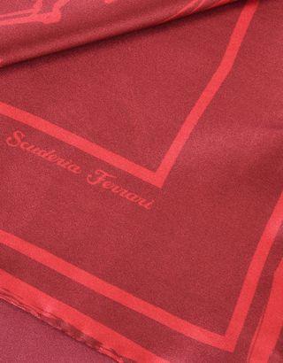 Scuderia Ferrari Online Store - Women's silk foulard scarf with Ferrari sketch logo - Bandanas