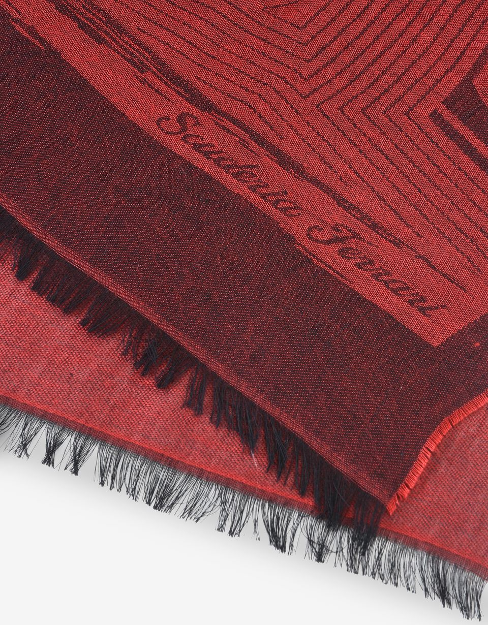 Scuderia Ferrari Online Store - Square scarf with Ferrari Shield - Foulards