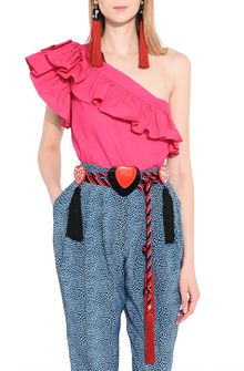 PHILOSOPHY di LORENZO SERAFINI Belt with tasslels and hearts Belt Woman r