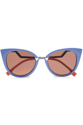 FENDI Cat-eye acetate gradient sunglasses