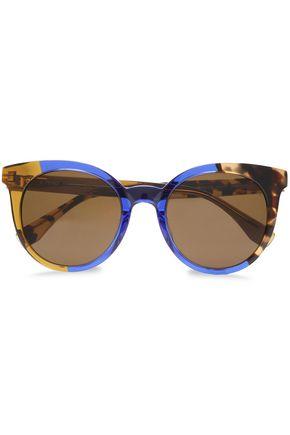 FENDI Cat-eye printed acetate sunglasses