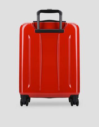 Scuderia Ferrari Online Store - Valigia trolley rigida da cabina con Scudetto Ferrari - Trolley e Valigie