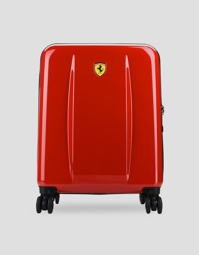 Scuderia Ferrari Online Store - Carry-on size, hard-shell wheeled suitcase with ...