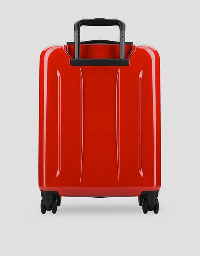 Scuderia Ferrari Online Store - Hard-shell wheeled cabin suitcase with Ferrari Shield - Trolleys & Luggage