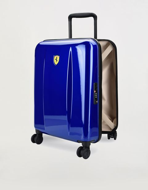 Hardside cabin size wheeled suitcase with Ferrari Shield