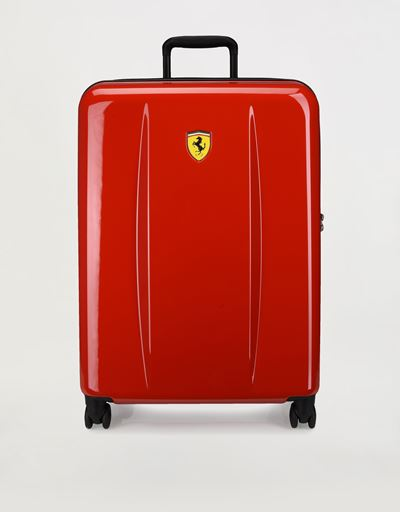 Medium hard shell wheeled suitcase with Ferrari Shield