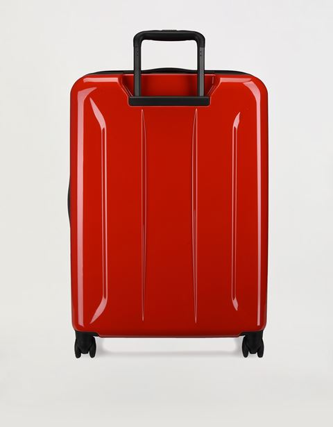 Scuderia Ferrari Online Store - Medium, hard-shell- wheeled suitcase with Ferrari Shield -