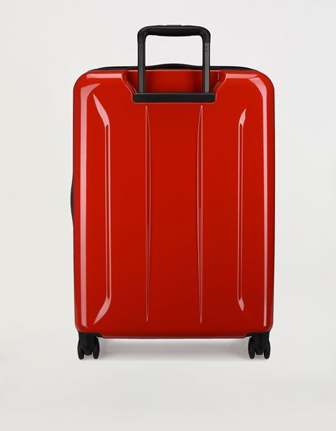 Scuderia Ferrari Online Store - Large, hard-shell wheeled suitcase with Ferrari Shield - Trolleys & Luggage