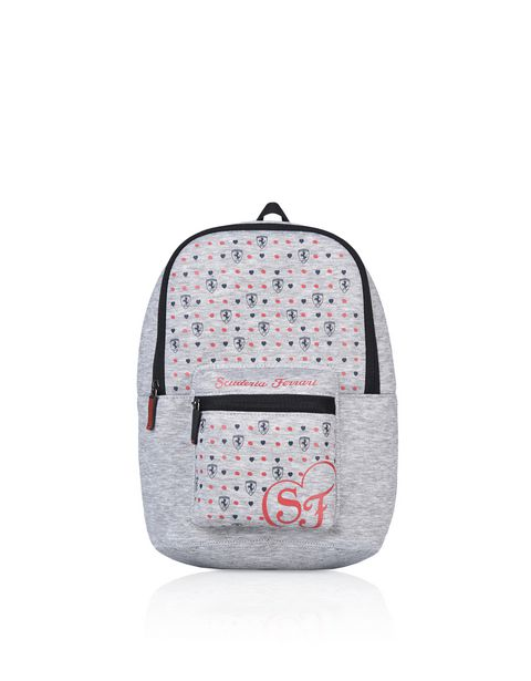 Girls' fabric backpack with all-over print