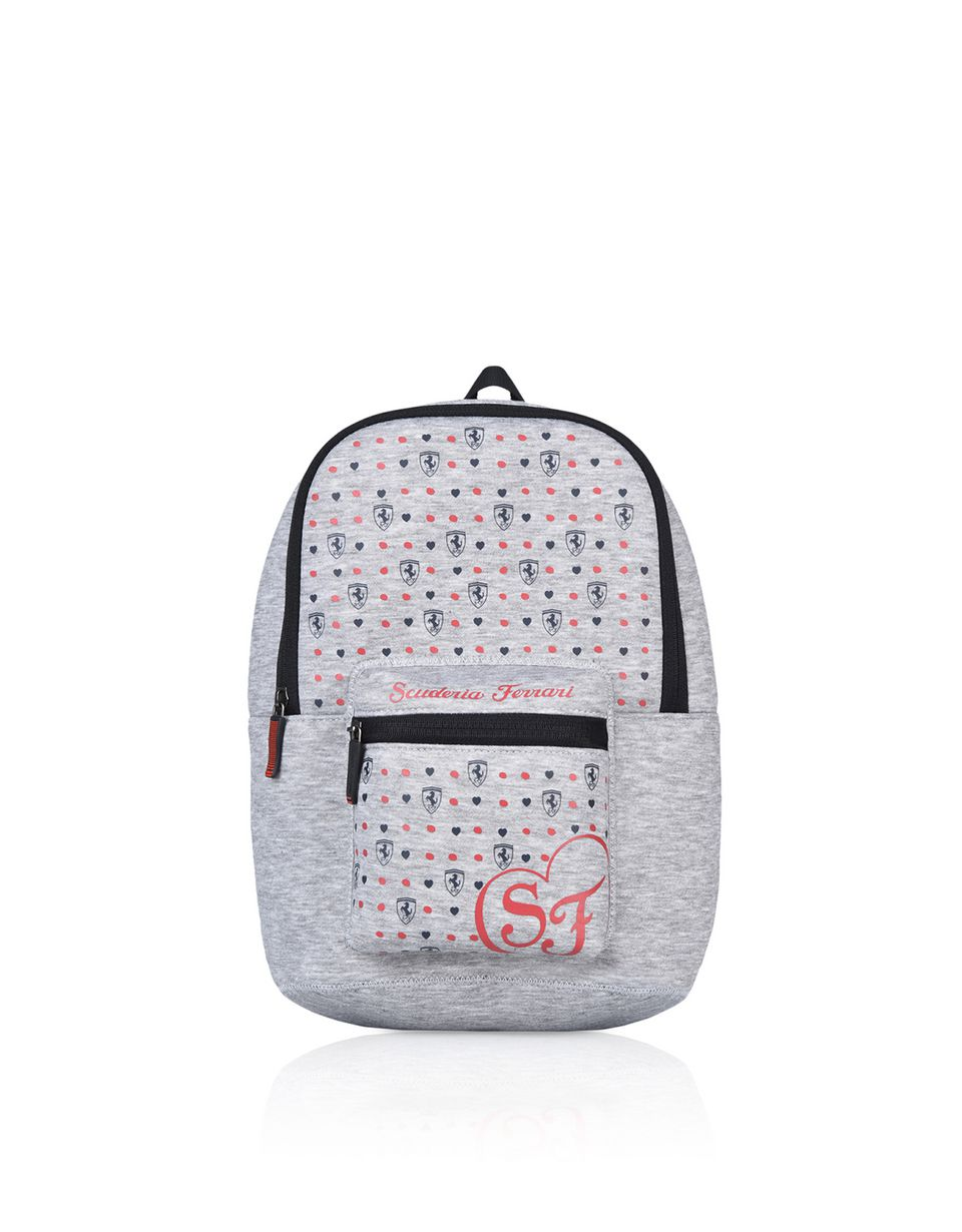 Scuderia Ferrari Online Store - All-over print fabric backpack for girls -