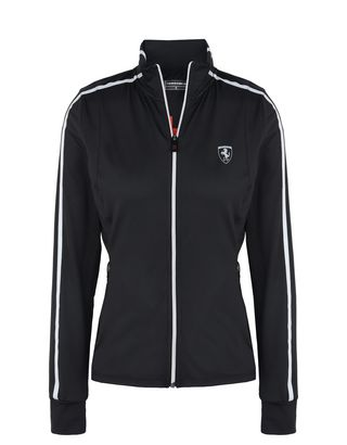 Scuderia Ferrari Online Store - Women's running sweatshirt in breathable fabric - Zip Sweaters