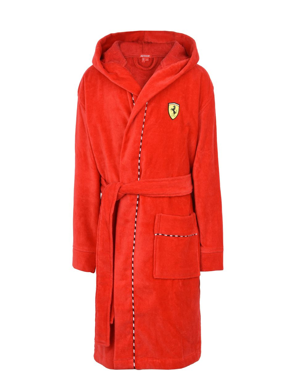 Scuderia Ferrari Online Store - Hooded dressing gown for teens - Bathrobe