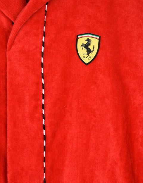 Scuderia Ferrari Online Store - Hooded bathrobe for teens - Bathrobe