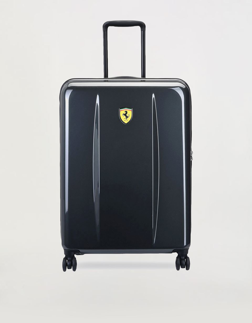 Scuderia Ferrari Online Store - Hardside medium size wheeled suitcase with Ferrari Shield - Trolleys & Luggage