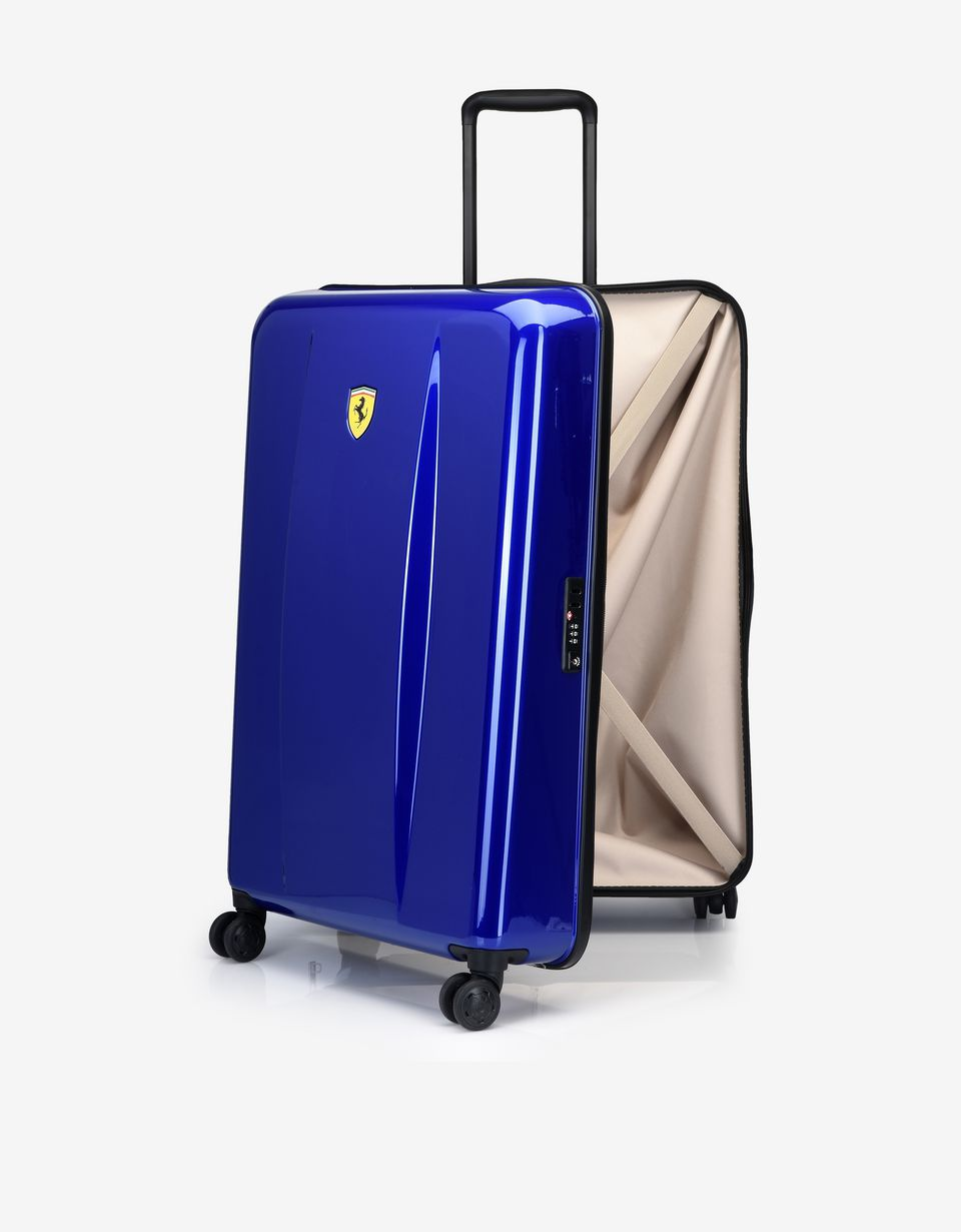 Scuderia Ferrari Online Store - Medium hard-shell wheeled suitcase with Ferrari Shield -