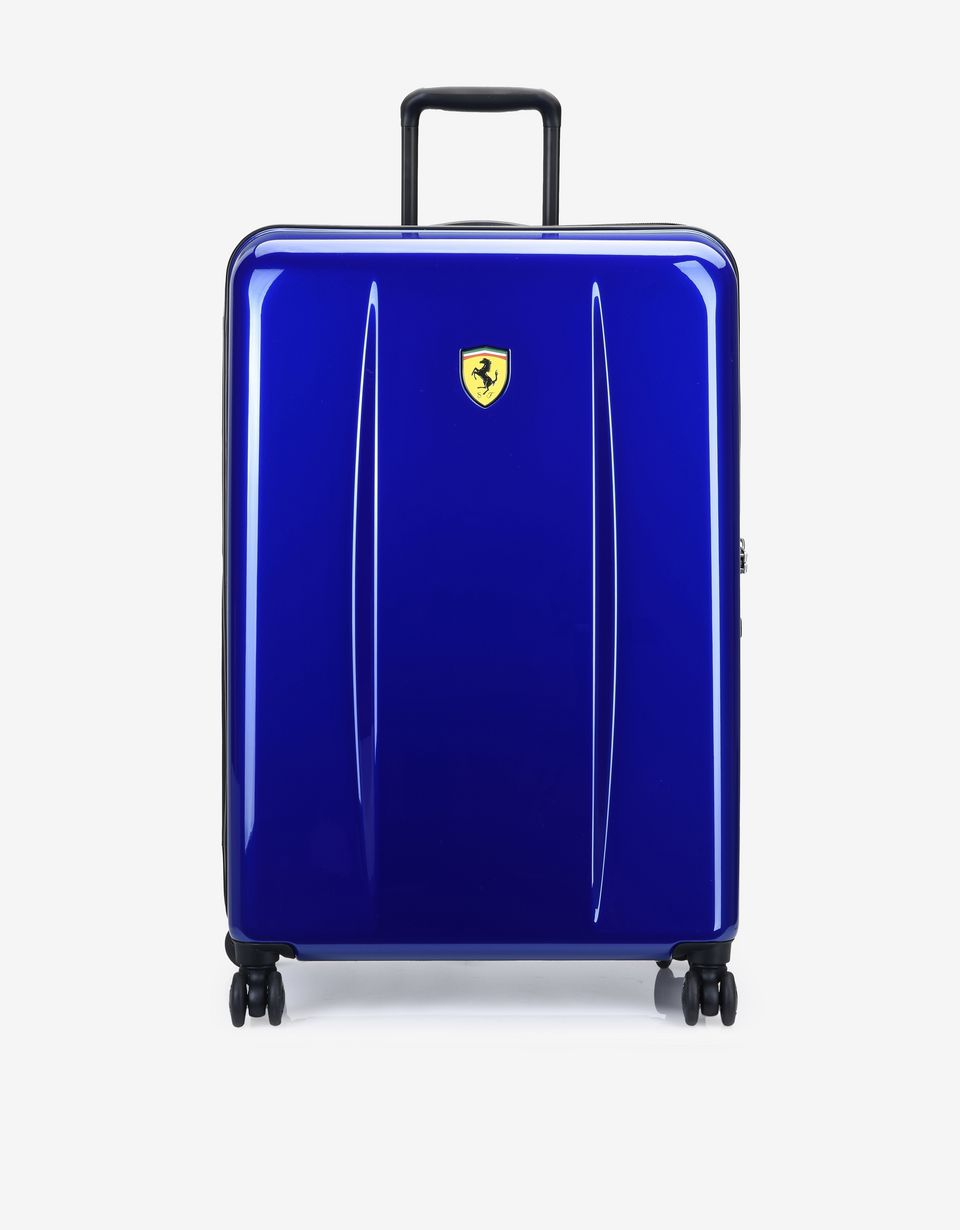 Scuderia Ferrari Online Store - Medium hard-shell wheeled suitcase with Ferrari Shield - Trolleys & Luggage