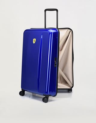 Scuderia Ferrari Online Store - Hardside large wheeled suitcase with Ferrari Shield - Trolleys & Luggage