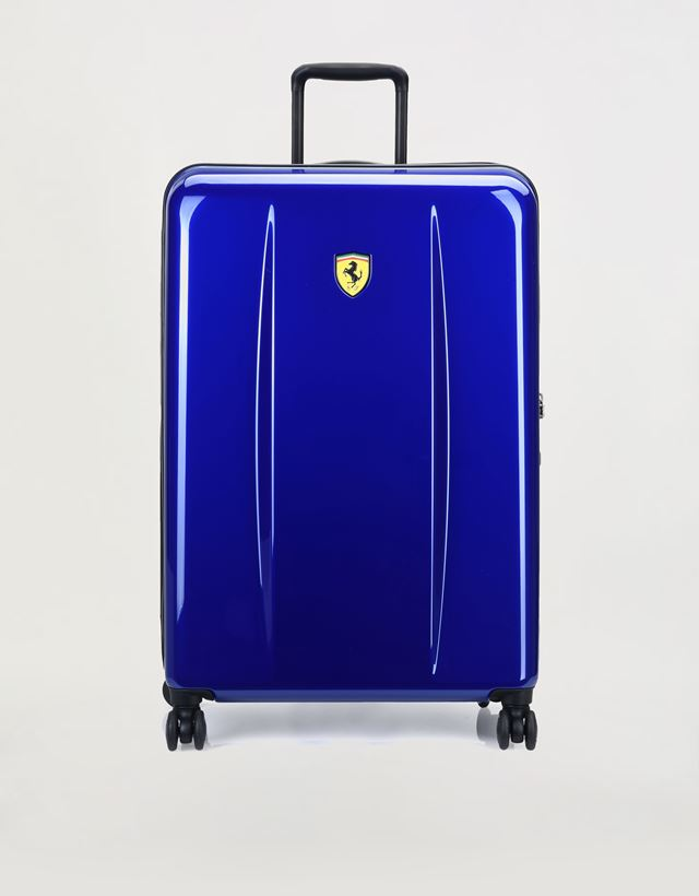 Scuderia Ferrari Online Store - Large, hard-shell wheeled suitcase with  Ferrari Shield ... cdc576b771
