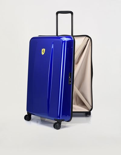 Scuderia Ferrari Online Store - Large hard-shell wheeled suitcase with Ferrari Shield - Trolleys & Luggage