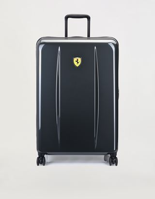 Scuderia Ferrari Online Store - Large hard shell wheeled suitcase with Ferrari Shield - Trolleys & Luggage