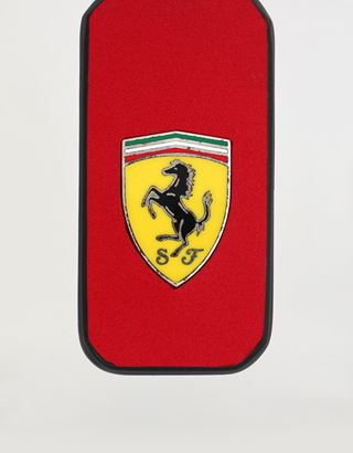 Scuderia Ferrari Online Store - Natural leather keyring with enamel Shield and an artisan finish - Keyholders