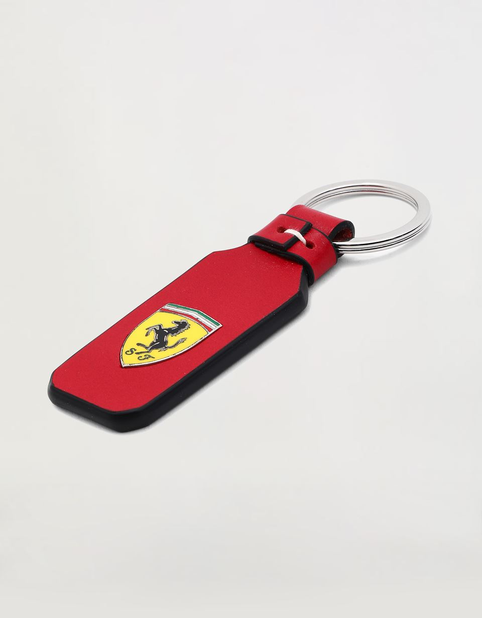 Scuderia Ferrari Online Store - Leather keyring with Shield - Keyholders