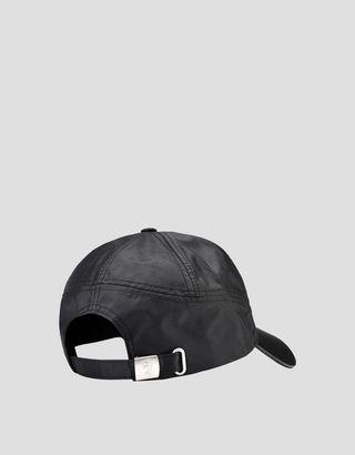 Scuderia Ferrari Online Store - Black cap with visor with carbon fiber effect - Baseball Caps