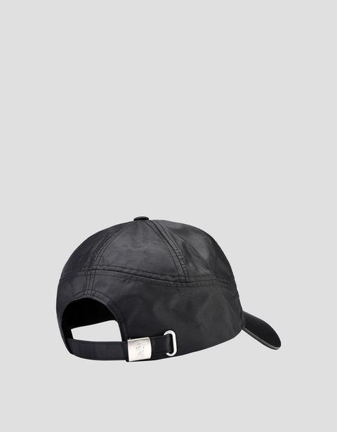 Scuderia Ferrari Online Store - Black cap with visor with carbon fibre effect - Baseball Caps