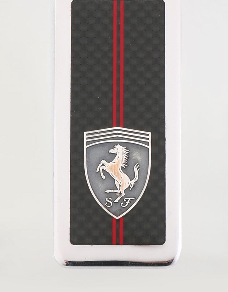 Scuderia Ferrari Online Store - Portachiavi in argento Scuderia Ferrari con Scudetto -