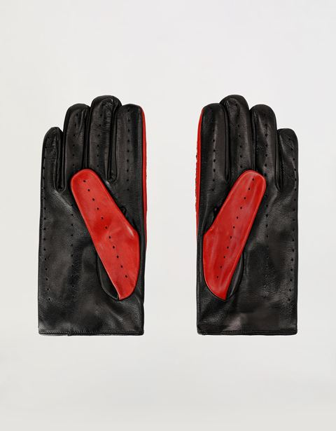 Scuderia Ferrari Online Store - Men's lambskin leather driving gloves -