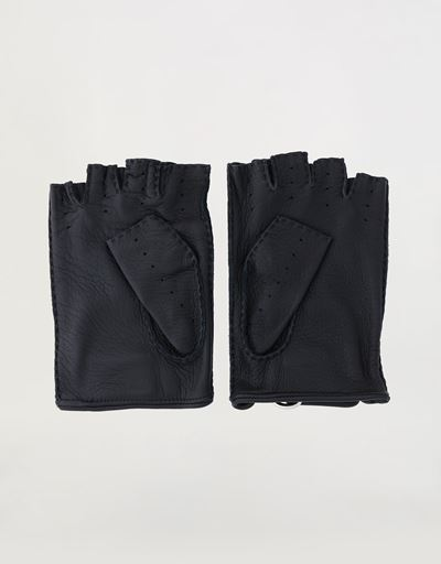 Scuderia Ferrari Online Store - Men's fingerless driving gloves - Fingerless Gloves