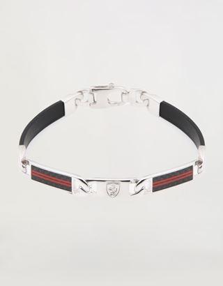 Scuderia Ferrari Online Store - Men's silver Scuderia Ferrari bracelet - Pendants & Bracelets