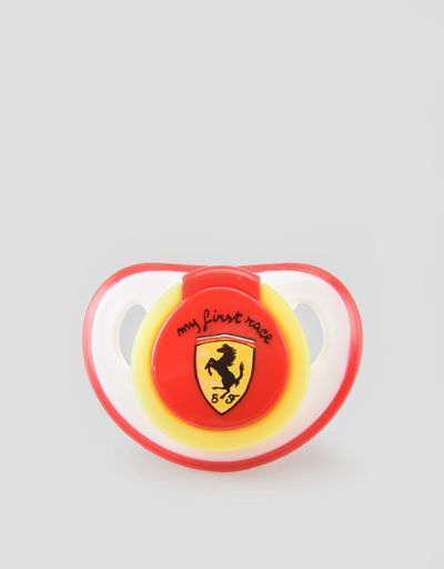 'My first race' silicone pacifier
