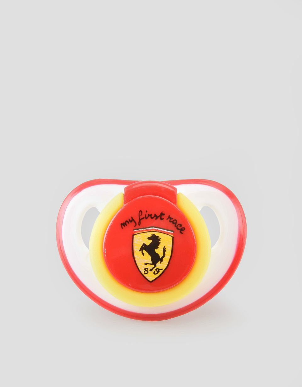 Scuderia Ferrari Online Store - 'My first race' silicone pacifier - Soothers & Accessories