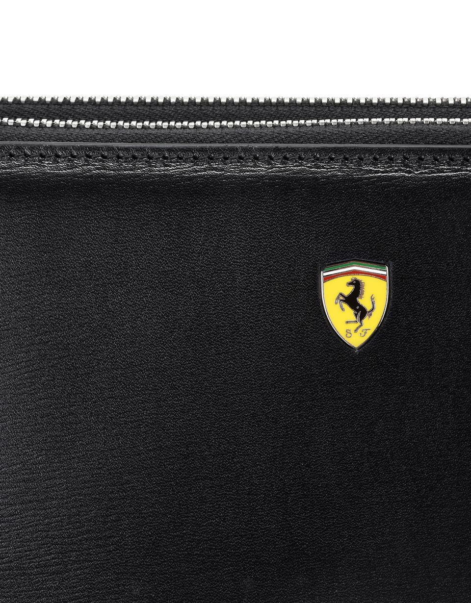 Scuderia Ferrari Online Store - Boarded leather clutch - Zip-around Wallets