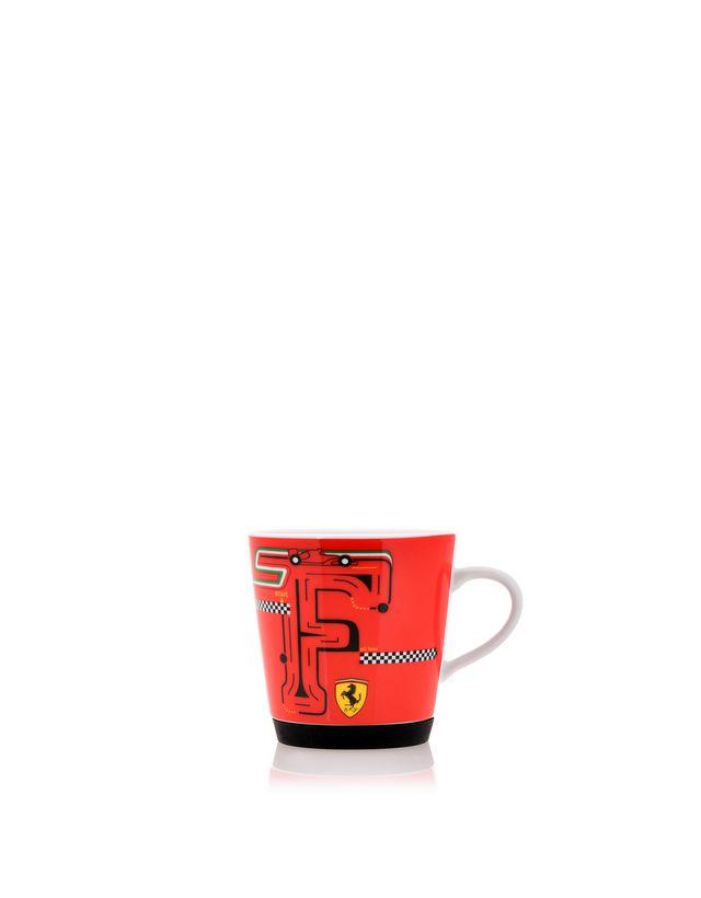Scuderia Ferrari Online Store - 儿童 F-Racing 防滑陶瓷杯 - 马克杯与杯子