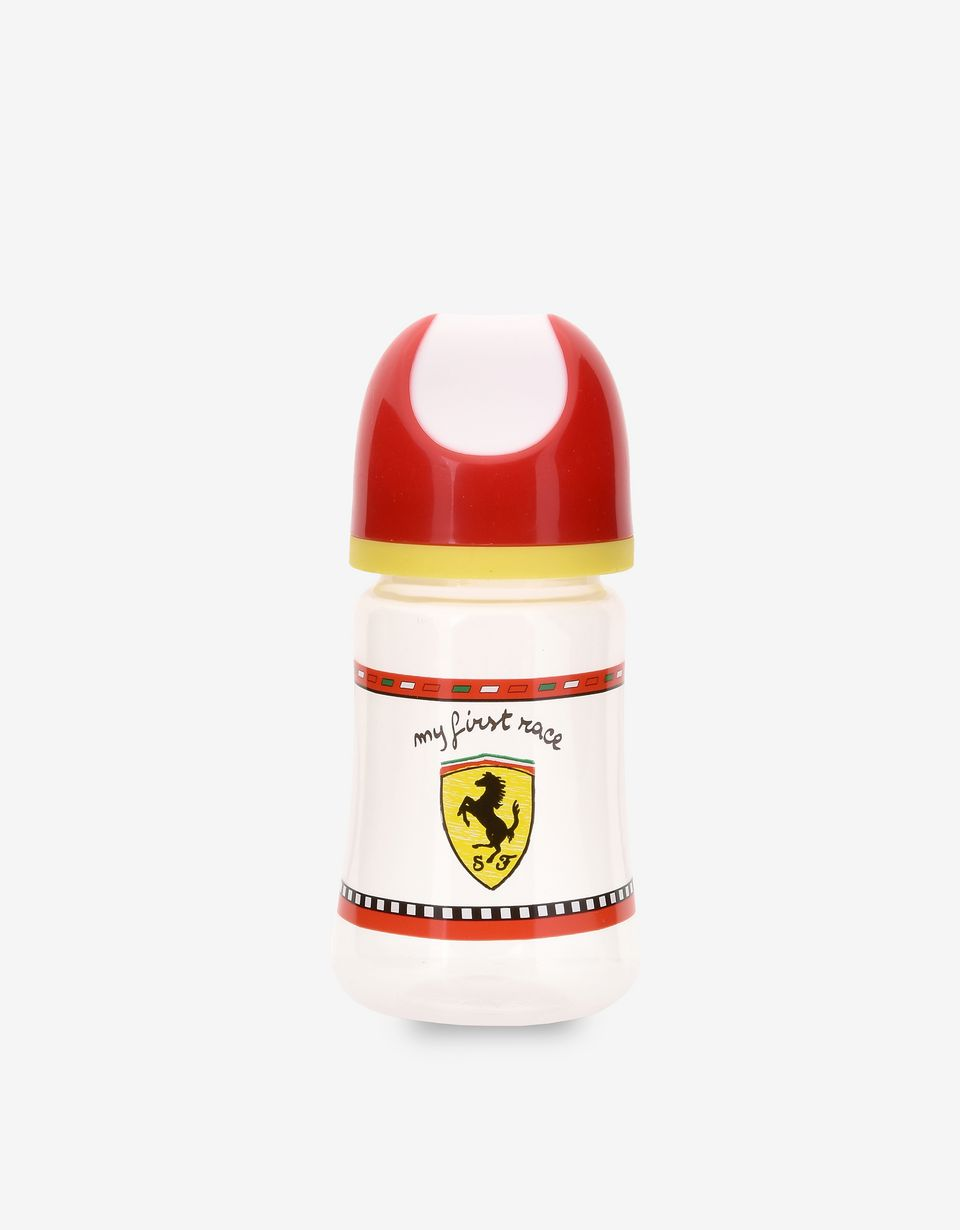 Scuderia Ferrari Online Store - 8.5 oz 'My first race' baby bottle with silicone teat - Soothers & Accessories
