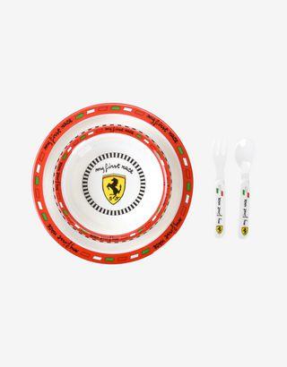 Scuderia Ferrari Online Store - Scuderia Ferrari kids plate and cutlery set - Soothers & Accessories