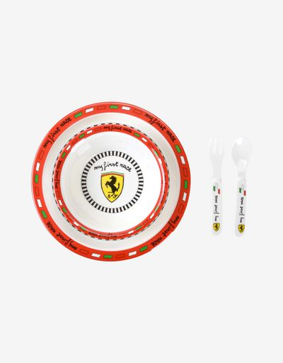 Scuderia Ferrari kids plate and cutlery set