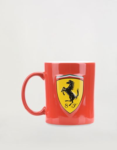 Ceramic mug with 3D Ferrari Shield