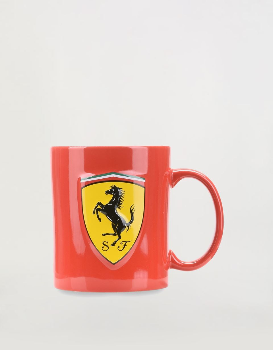 Scuderia Ferrari Online Store - Ceramic mug with 3D Ferrari Shield - Mugs & Cups