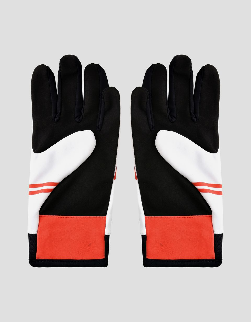 Scuderia Ferrari Online Store - Scuderia Ferrari driving gloves for teens - Regular Gloves